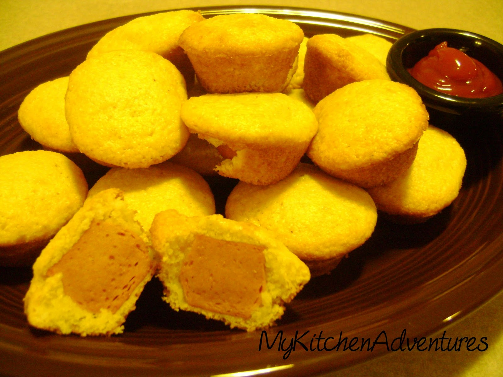 Jiffy Corn Dog Mini Muffins