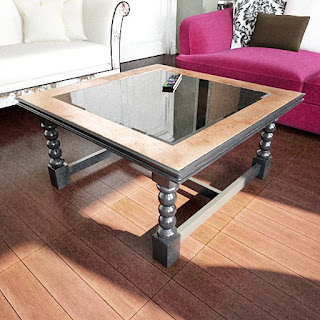 Free 3D model - Square-glass classic coffee table