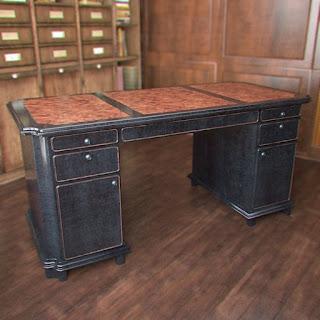 Free 3D model - Classic cabinet desk