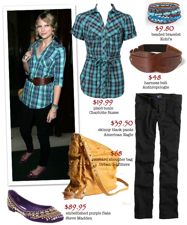 Taylor Swift Oxfords. Get Taylor Swifts bold plaid