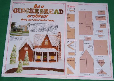 1986 gingerbread house plans old magazine ads for Gingerbread house floor plans