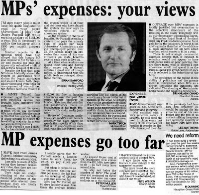 Tameside Advertiser letters on James Purnell's expenses
