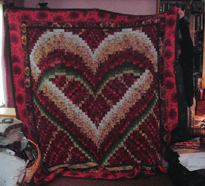 Bargello Heart Quilt | Feathered Fibers