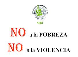 NO a la pobreza, No a la violencia, en español