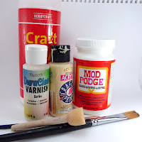 how to use pva glue for decoupage