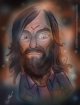 Charles Manson caricature