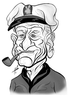 Hugh Hefner caricature