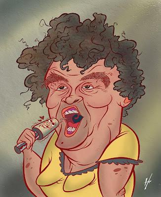 Susan Boyle caricature