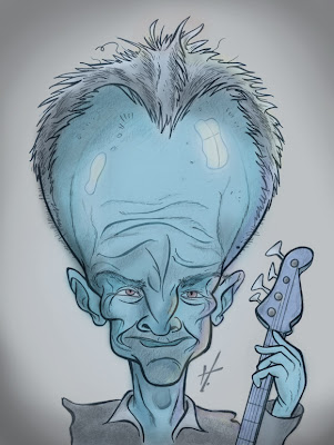 Sting caricature