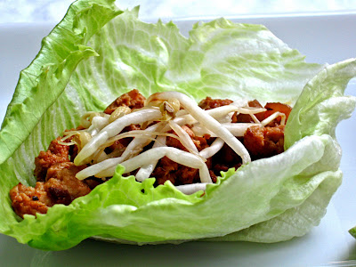 Mouthwatering chicken lettuce wrap