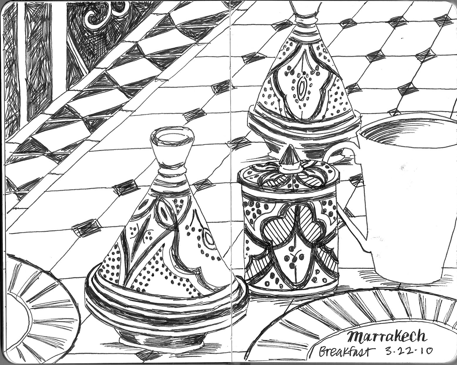 spirit of drawing march 2010 drawings from marrakech