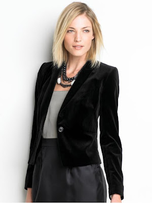 Jacket That Runs Small: Banana Republic Velvet Blazer in Petite 00