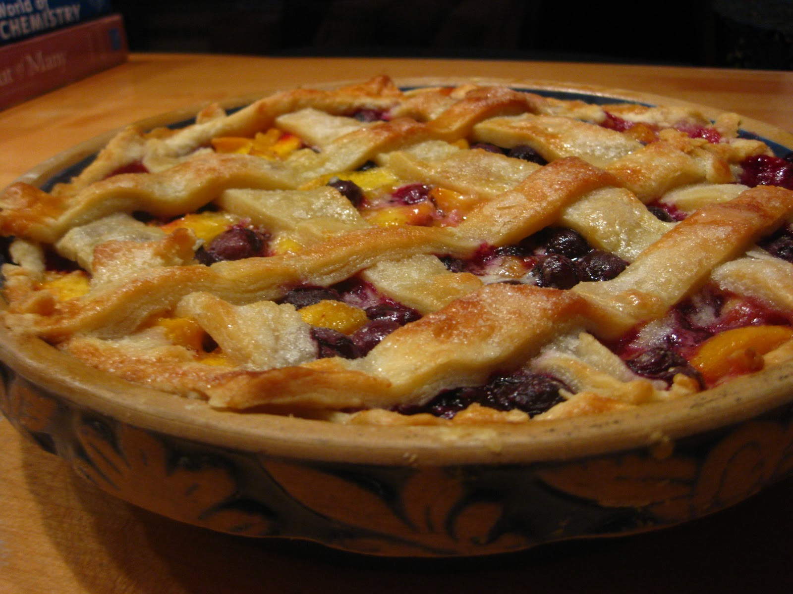The recipe called for a pre-made crust, fresh blueberries and frozen ...