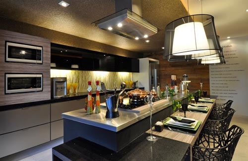 SWEET HOME AND ART DESIGN DE COZINHAS # Cozinha Com Ilha E Sala Integrada