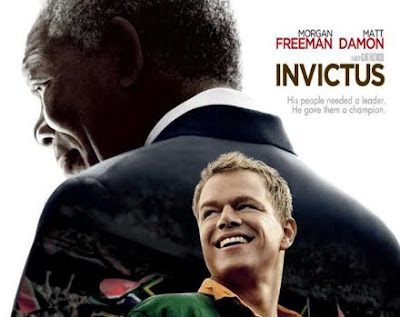 Invictus Movie directed by Clint Eastwood and starring Morgan Freeman and Mat Damon