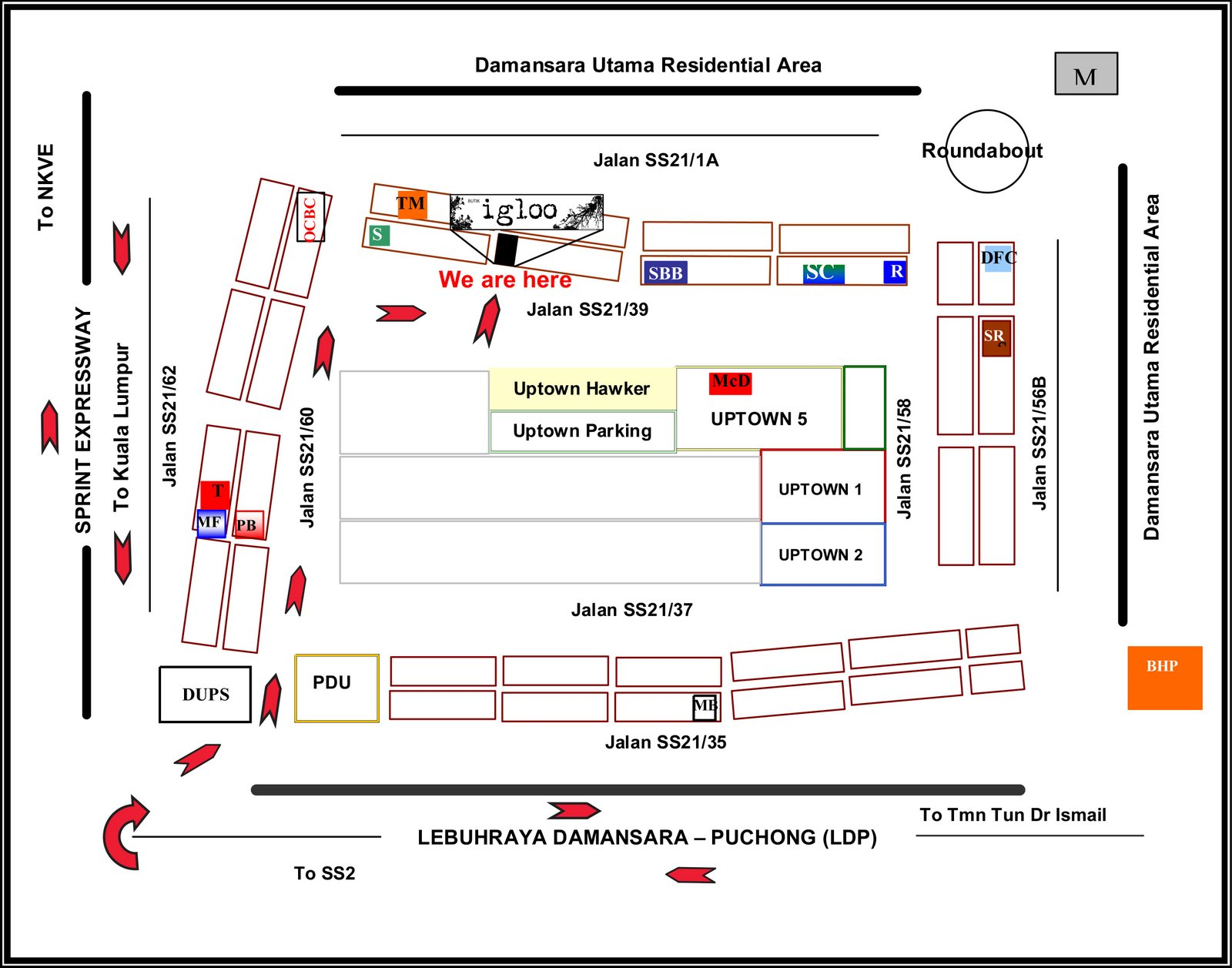 IGLOO Location Map