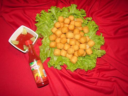 Porção de mandioquinha frita