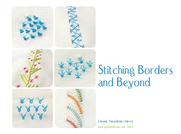 Polka Bloom Stitching Borders And Beyond Embroidery Ebook