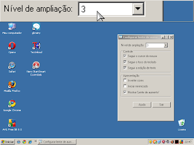 Lente de aumento do Windows XP