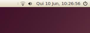 Painel do Ubuntu sem o envelope e sem o Me Menu
