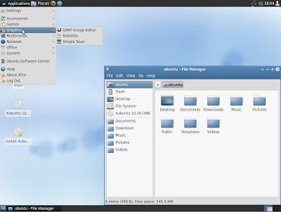 Look do Xubuntu 10,10