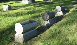 cylindrical headstones
