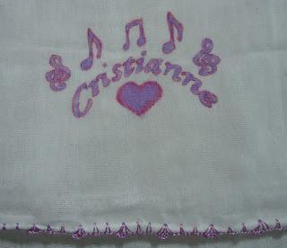 Fraldas de pano personalizadas bico de crochê, Pintura feita a mão e
