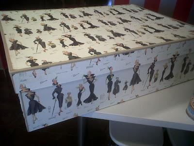 cartonnage en el taller de curra: caja para vestido de novia