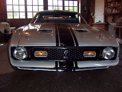 1972 Eleanor Mustang Addition Of Sport Lamps Chrome Hood Locks And Shelby Snake Emblem On The