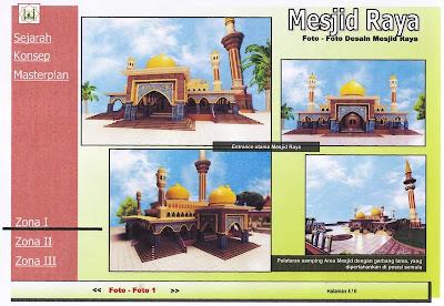 Desain Masjid Raya Pekanbaru