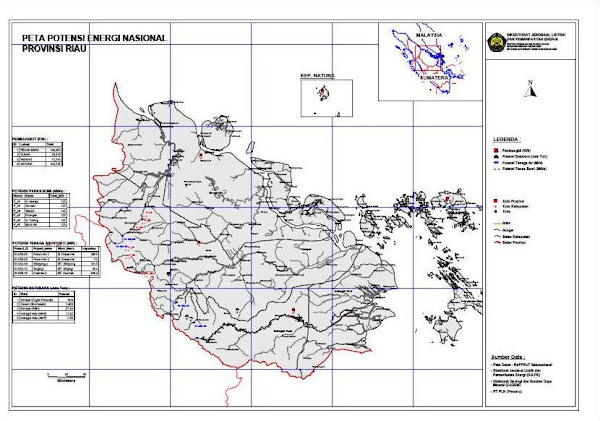 Peta Riau, Peta Provinsi Riau