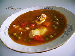 recipes - chicken with peas