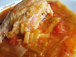 gourmet recipes - Leek dish with chicken legs
