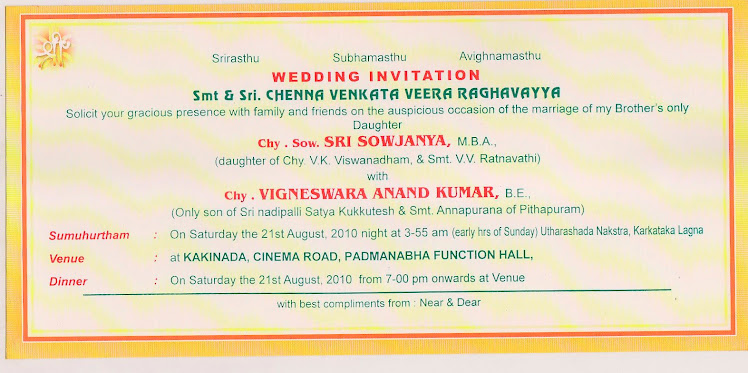 Bride's Invitation