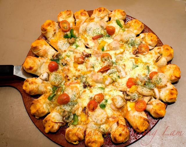 pizza hut 帶子火山批 聖誕套餐