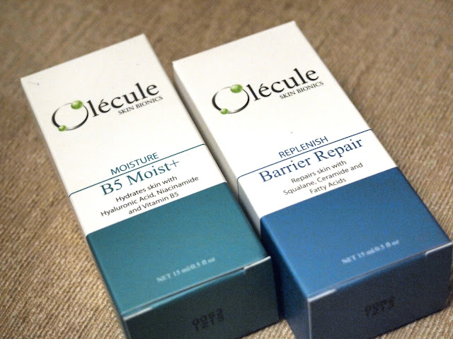 olecule b5 moist+ serum BARRIER Repair serum 鎖水修護精華