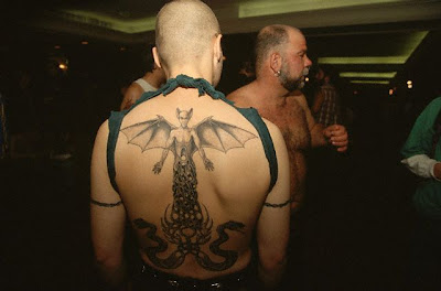 A Black Devil Back Tattoos
