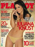 Playboy: Juliana Knurst - Dezembro 2007 - Capa