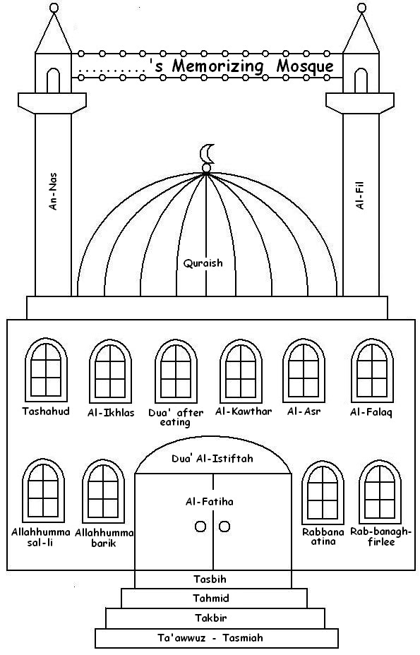 free mosque coloring pages - photo#36