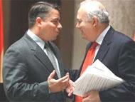 Moratinos con el canciller cubano Pérez Roque
