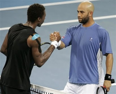 Black Tennis Pro's Gael Monfils Brisbane International Quarterfinals