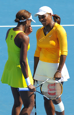 Black Tennis Pro's Venus and Serena Williams 2010 Australian Open Doubles
