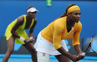 Black Tennis Pro's Venus and Serena Williams Doubles 2010 Australian Open