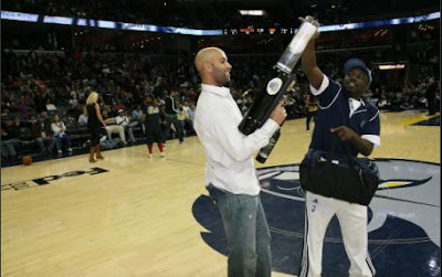 Black Tennis Pro's James Blake in Memphis, TN at Grizzlies and Suns game