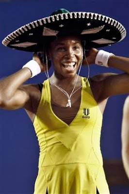 Black Tennis Pro's Venus Williams Defends HSBC Abierto Mexicano Telcel Title