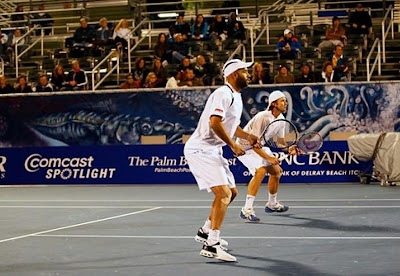 Black Tennis Pro's James Blake and Robert Kendrick Doubles in Delray Beach