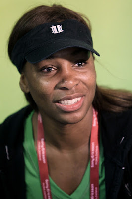 Black Tennis Pro's Venus Williams at Sony Ericsson Open Press Conference