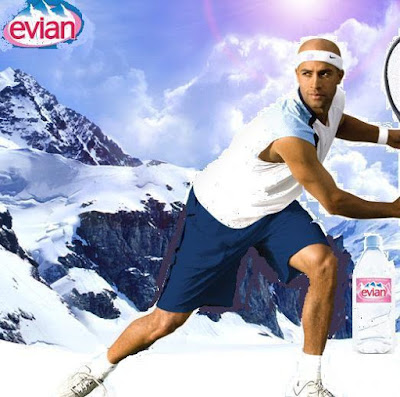Black Tennis Pro's James Blake Evian
