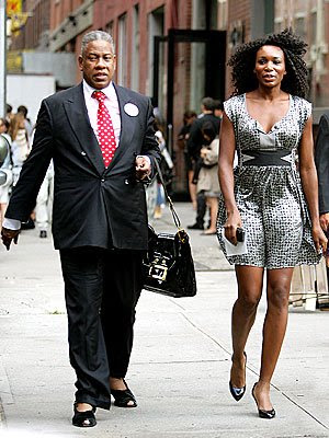 Black Tennis Pro's Venus Williams and Andre Leon Talley