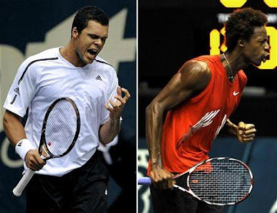 Black Tennis Pro's Jo-Wilfried Tsonga and Gael Monfiels Thailand Open